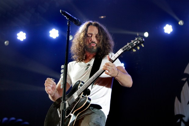 Soundgarden lead vocalist Chris Cornell performs in concert at the Bill Graham Civic Auditorium, in San Francisco, Calif., on Thursday, July 21, 2011. (Ray Chavez/Staff)