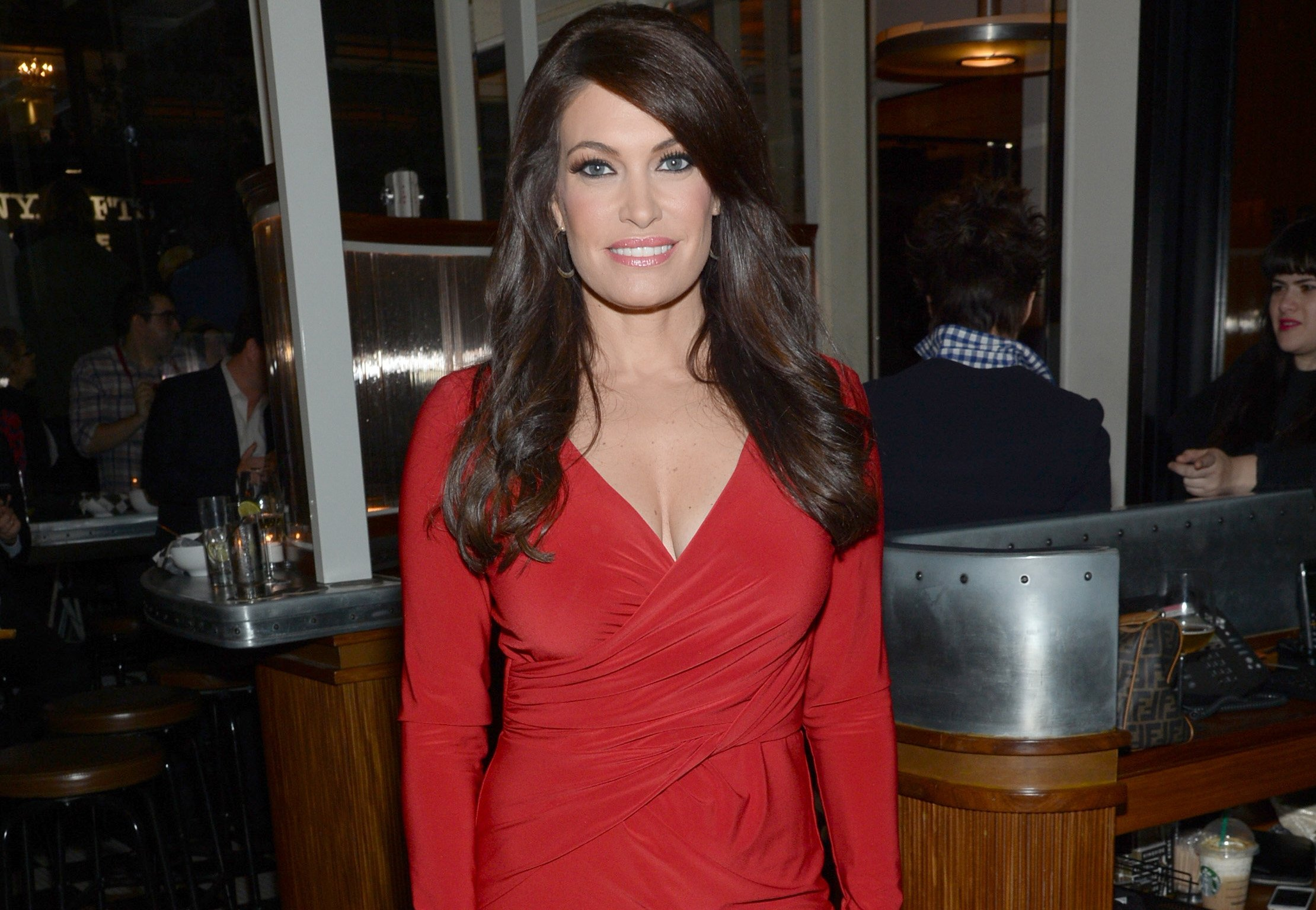"Kimberly Guilfoyle arrives at the New York special screening of ""Fury"" in 2014 in New York. (Photo by Evan Agostini/InvisionAP)"