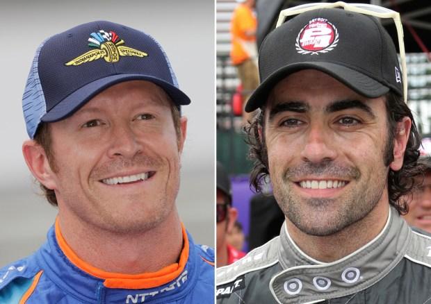 Scott Dixon, left, and, Dario Franchitti. (AP Photo/File)