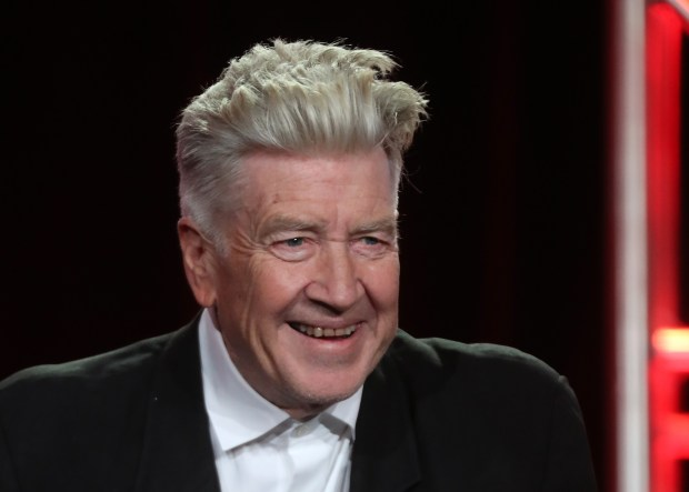 "(FILES) This file photo taken on January 9, 2017 in Pasadena, California shows director David Lynch speaking onstage the 2017 Winter Television Critics Association Press Tour. Two series, ""Top of the lake"" directed by Jane Campion, and ""Twin Peaks"", by US director David Lynch, are in the official selection (but not in competition) of the 70th Cannes festivalk. / AFP PHOTO / Frederick M. BrownFREDERICK M. BROWN/AFP/Getty Images"