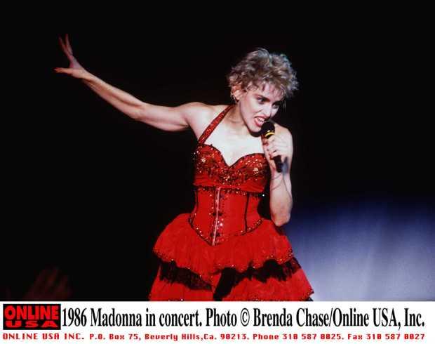 1986 Madonna in concert.