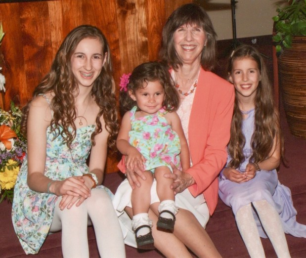 Donne Davis and her granddaughters, Juliet, 14 Amelia, 10, and Sophia, 2.