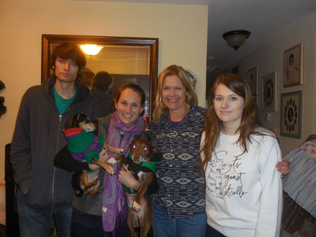 Sue Elya and her children, Carolyn, 30, Nick, 27, and Janine is 23.