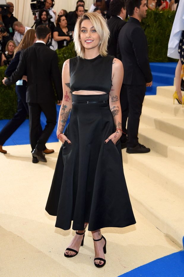 """NEW YORK, NY - MAY 01: Paris Jackson attends the """"Rei Kawakubo/Comme des Garcons: Art Of The In-Between"""" Costume Institute Gala at Metropolitan Museum of Art on May 1, 2017 in New York City. (Photo by Dimitrios Kambouris/Getty Images)"""