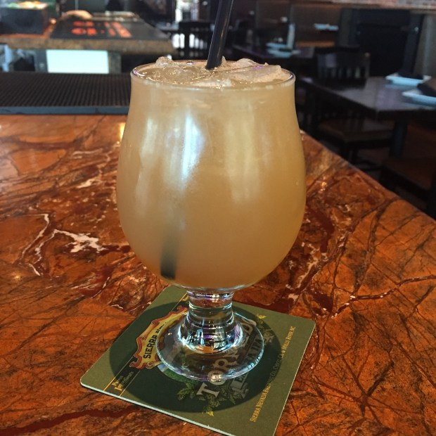 The apricot flavored King with a Crown is one of the specialty cocktails being served at the new Rookies Sports Lodge in downtown San Jose.