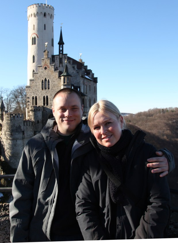 San Jose police Officer Michael Lewandowski poses with his wife Dani while abroad in Germany in June 2010. Lewandowski died May 14, 2017, from a long bout with lung cancer.