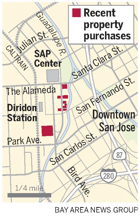 Downtown San Jose property grabs portend mega tech campus