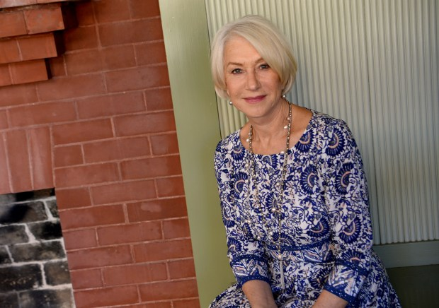Helen Mirren is photographed in the South Conservatory at the Winchester Mystery House in San Jose, Calif., on Friday, May 5, 2017. A major motion picture, called Winchester inspired by the story of firearms heiress Sarah Winchester, is currently under production starring Helen Mirren as Sarah. Filming at the Winchester Mystery House has taken place over the past few days. (Dan Honda/Bay Area News Group)