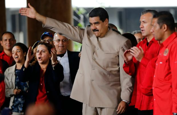 Venezuela's President Nicolas Maduro at the National Electoral Council . My 7, 2017. (AP Photo/Ariana Cubillos, File)