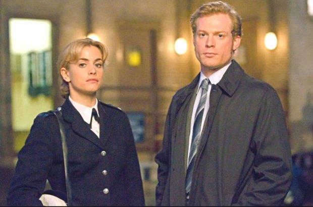 "Martini, left, and ""Prime Suspect"" costar Sam Reid. (AmandaSearle/Masterpiece)"