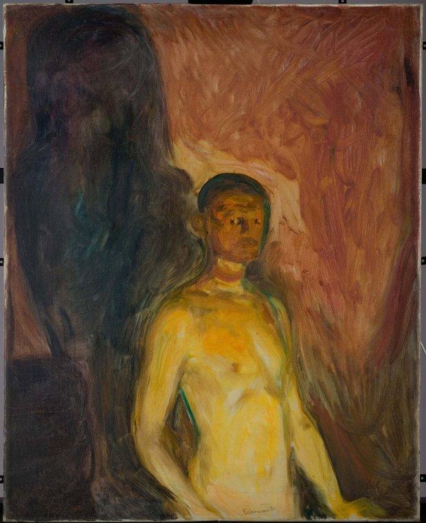 "Edvard Munch, ""Self-Portrait in Hell,"" 1903. (Munch Museum, Oslo)"