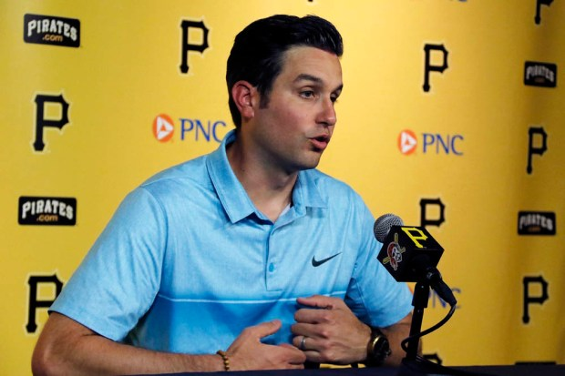 Major League umpire John Tumpane, Wednesday, June 28, 2017, in Pittsburgh.  (AP Photo/Gene J. Puskar)
