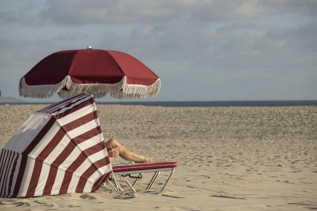 "Coronado's beach routinely appears on the ""nation's top beaches"" lists, thanks toits pristine white sand, gentle surf and amenities, such as red-and-white striped cabanettes, which can be rented. Photo credit: Hotel del Coronado"