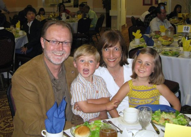 Greg Larson, of Santa Cruz with his wife and children Camille and Cavanaugh. (Courtesy of Greg Larson)