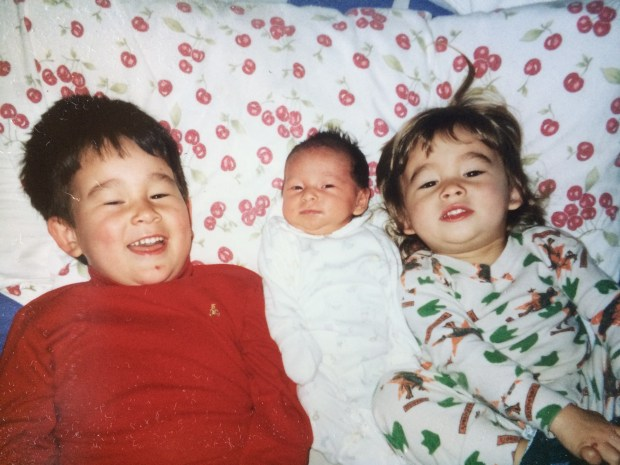 The children of Rob Lowe of Orinda: Carson, Tyler and Rachel (Courtesy of Rob Lowe).