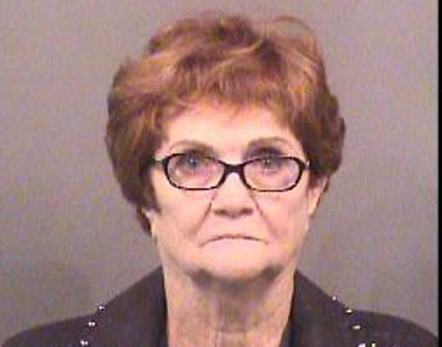 Booking photo of Lila Mae Bryan of Mesquite, Texas. (Sedgwick County Sheriff's Office via AP)