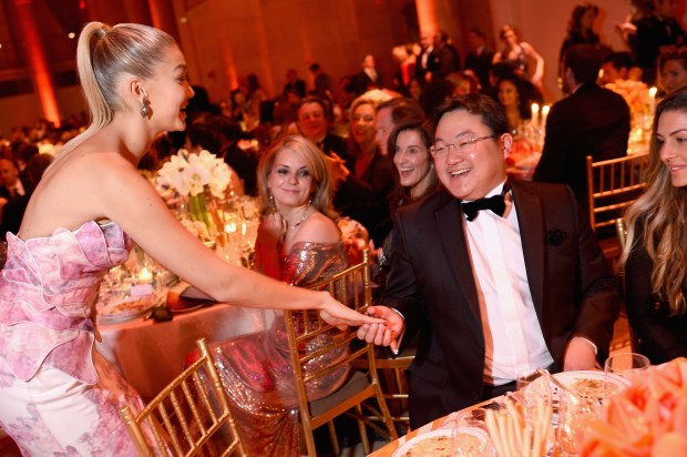 NEW YORK, NY - OCTOBER 20: Gigi Hadid and Mr. Jho Low attend Angel Ball 2014 hosted by Gabrielle's Angel Foundation at Cipriani Wall Street on October 20, 2014 in New York City. (Photo by Dimitrios Kambouris/Getty Images for Gabrielle's Angel Foundation)