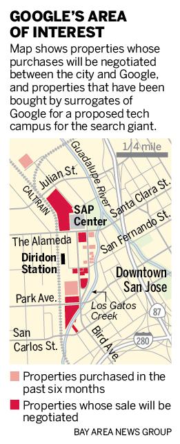 Google's San Jose campus project area