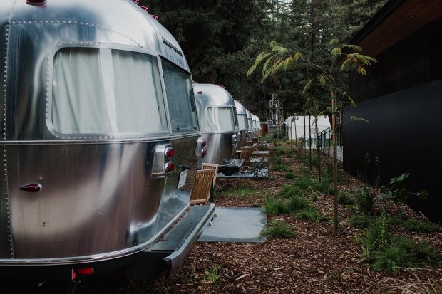 Well-appointed Airstreams up the comfort level at AutoCamp Russian River, aglamp-ground in Sonoma County's Guerneville (Photo: Hannah Merritt).