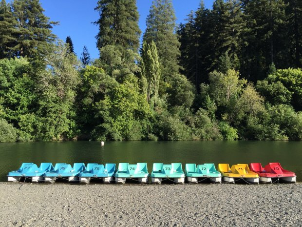 Johnson's Beach in Guerneville offers several options to enjoy the RussianRiver including paddle boat and kayak rentals (Photo: Daniel Poirier)