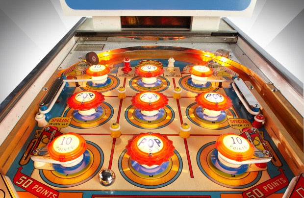 "This is one image in a fine-art series of pinball photography titled, ""The Game, Reflected"" by Kevin Tiell -- http://kevin.tiell.com"