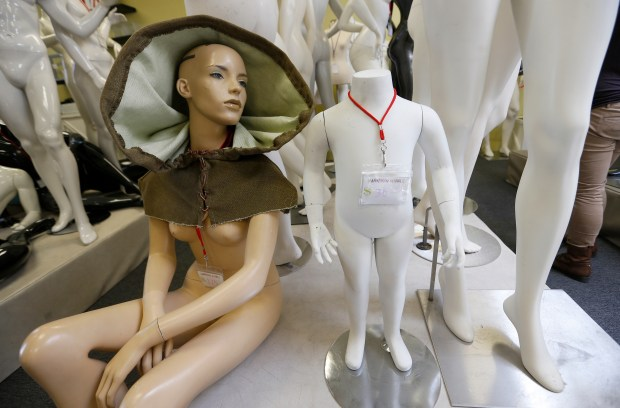 Mannequins are seen at the Mannequin Madness retail store and warehouse in Oakland. (Jane Tyska/Bay Area News Group)