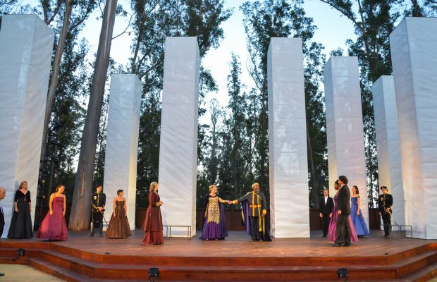 The scene at the majestic new grove of Santa Cruz Shakespeare.