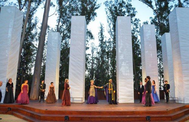 The scene at the majestic new grove of Santa Cruz Shakespeare.