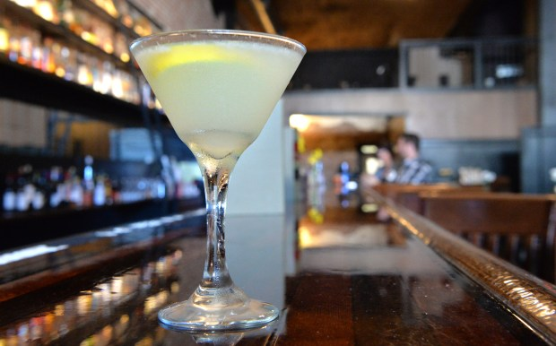 """A """"solicitation"""" cocktail is photographed at the Deliberation Room bar in Stockton, Calif., on Wednesday, May 31, 2017. (Doug Duran/Bay Area News Group)"""