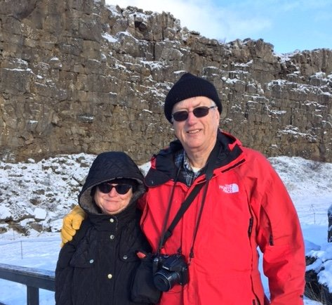 Hayward residents Karen and Tom Fuller visited Iceland in March with anitinerary that included a Game of Thrones location tour, geysers and historic museums. (Courtesy of the Fuller Family)