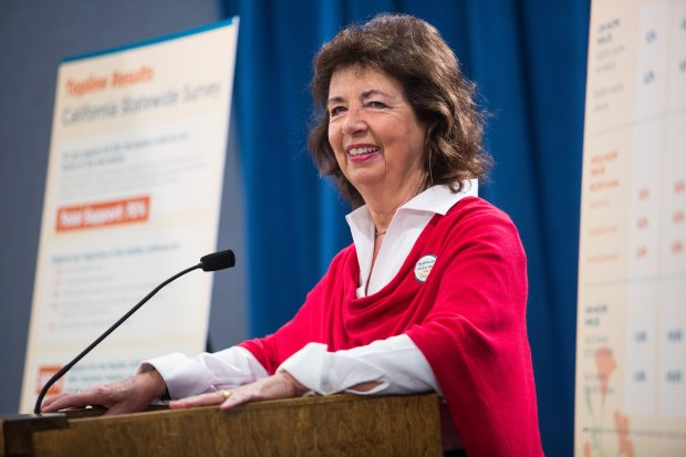 Nurses union leader RoseAnn Demoro at the California Capitol.Photo by Max Whittaker for CALmatters