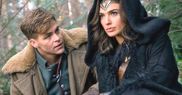 "Chris Pine and Gal Gadot in ""Wonder Woman."" (Clay Enos/Warner Bros.Entertainment)"