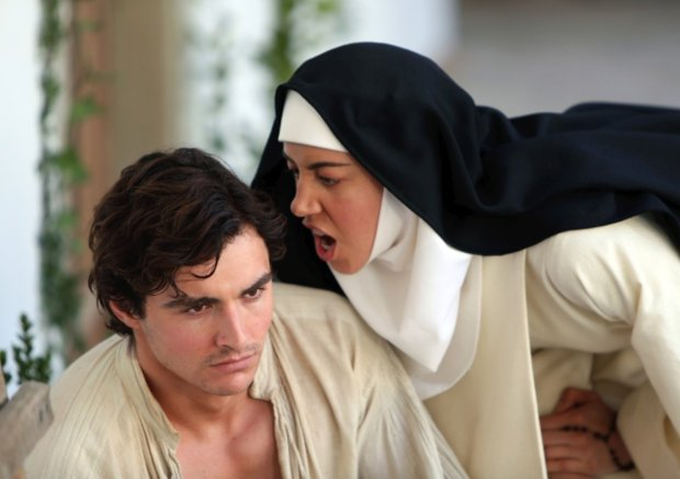 "Dave Franco and Aubrey Plaza in ""The Little Hours."" (Gunpowder & Sky)"