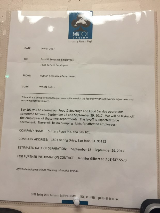 Internal Affairs: Bay 101 employees strike after getting layoff
