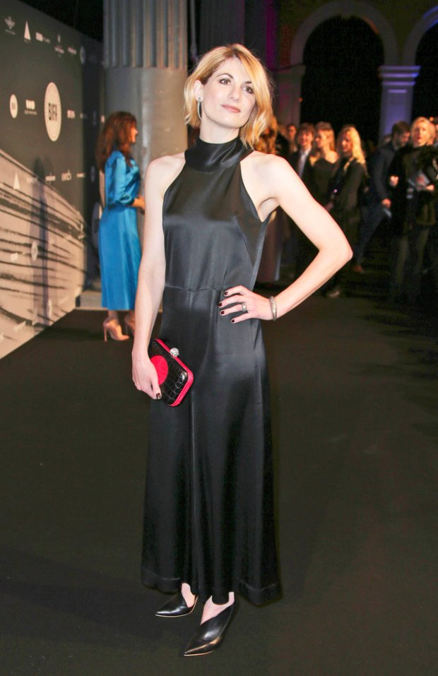 """FILE - In this file photo dated Sunday Dec. 4, 2016, British actress Jodie Whittaker poses for photographers upon arrival at the The British Independent Film Awards in London. The BBC has announced Sunday July 16, 2017, Jodie Whittaker is the next star of the long-running science fiction TV series """"Doctor Who"""" set to become the first woman to take the leading title role. (FILE Photo by Joel Ryan/Invision/AP)Actress Jodie Whittaker poses for photographers upon arrival at the The British Independent Film Awards in London, Sunday, Dec. 4, 2016. (Photo by Joel Ryan/Invision/AP)"""