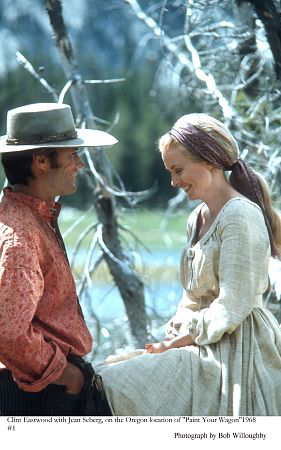 """Clint Eastwood and Jean Seberg in """"Paint Your Wagon"""" (Paramount)"""