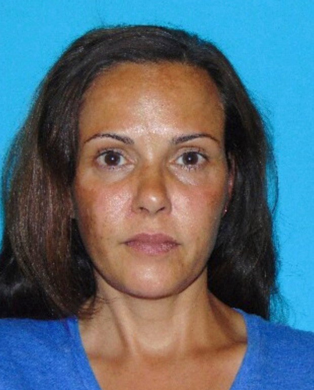 This Thursday, July 6, 2017, booking photo provided by the Tuolumne County Sheriff's Office shows Nadia Lockyer. Lockyer, 46, the wife of former California Attorney General and State Treasurer Bill Lockyer, was arrested by Tuolumne County sheriff's deputies on Thursday on suspicion of spousal abuse. Bill Lockyer, 76, reportedly suffered a minor injury. (AP Photo/ Tuolumne County Sheriff's Office Handout photo)