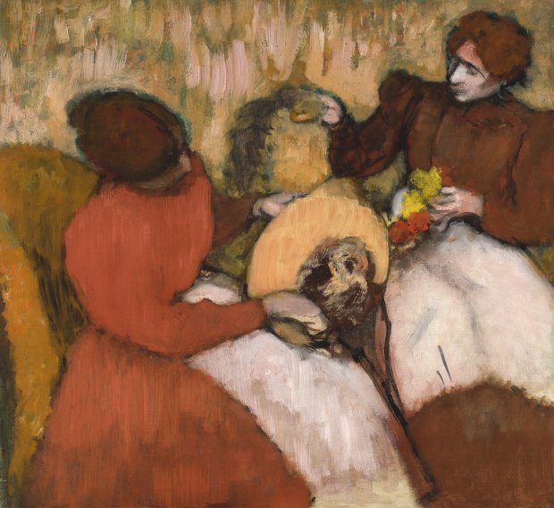 """Edgar Degas, """"The Milliners,"""" ca. 1898. (By Jean Paul Torno/courtesy ofFine Arts Museums of San Francisco)"""