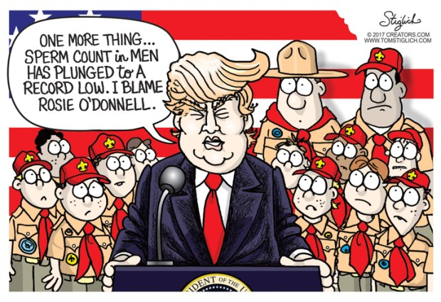Cartoons Donald Trump And The Boy Scouts