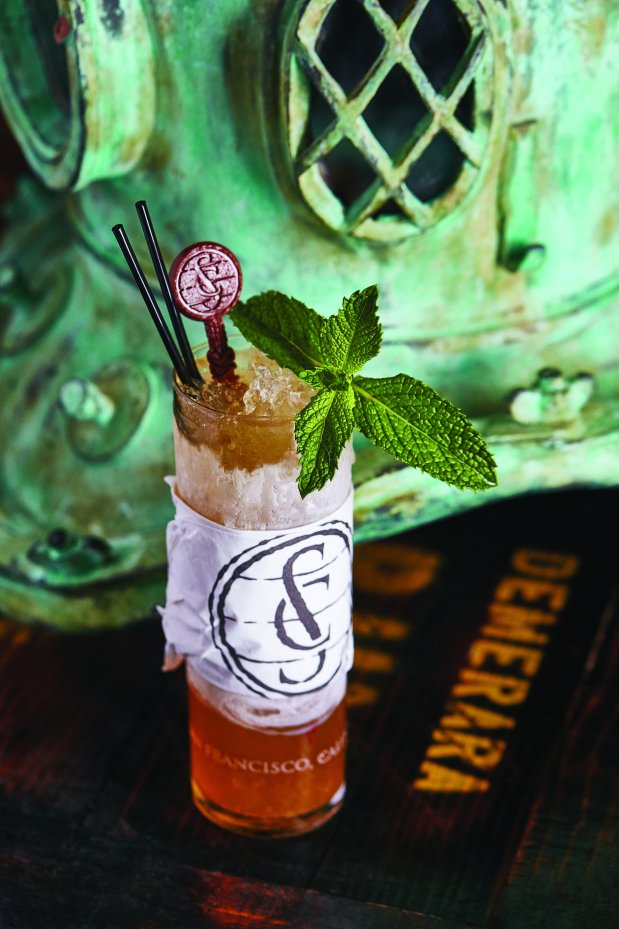 The exotic Twenty Seventy Swizzle at Smuggler's Cove in San Francisco ismade with fresh lime juice and two house made syrups (Photo: Dylan + Jeni).