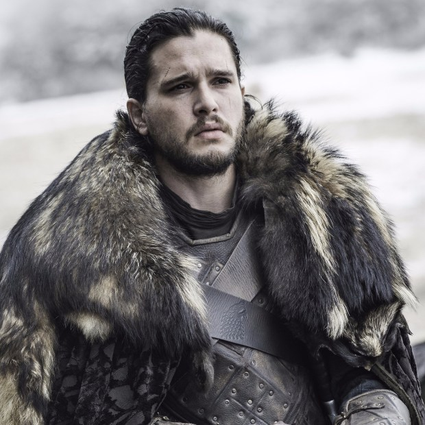 """HBOJon Snow (played by Kit Harington) started """"Games of Thrones"""" Season 6 dead and ended it being proclaimed the King of the North. Now that's an upgrade."""
