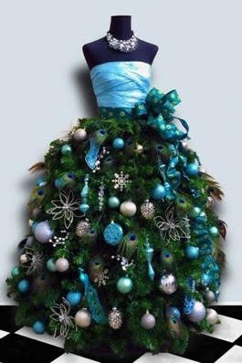 A mannequin torso becomes a Christmas tree. (Courtesy JudiTownsend/Mannequin Madness)