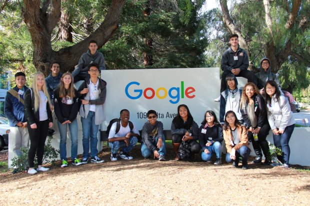 During the 2016-'17 school year, the East Side Union High School Districttook the 15 students in its inaugural class of the International Student Program on field trips to various universities and companies, among them Google. (Courtesy East Side Union High School District)