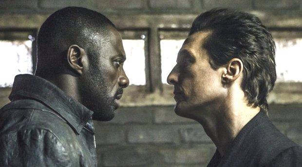 "Idris Elba, left, and Matthew McConaughey in ""The Dark Tower."" (IlzeKitshoff/Columbia Pictures/Sony)"