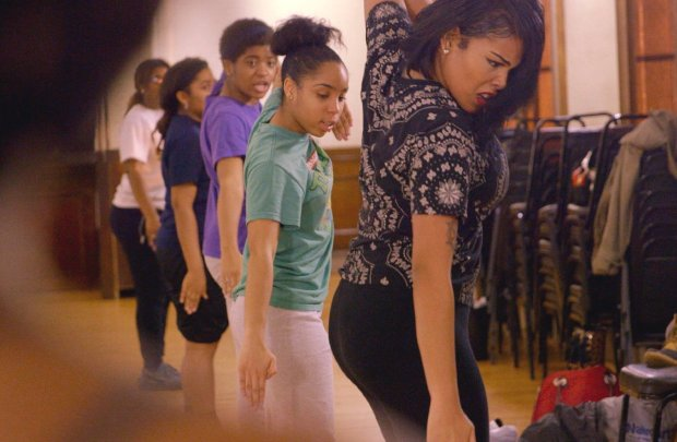 """Blessin Giraldo and Tayla Solomon in """"Step."""" (Fox Searchlight Pictures)"""