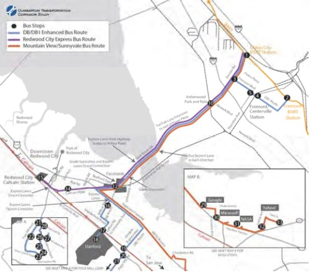 Proposed enhanced bus service and railroad crossing. (Courtesy SamTrans)