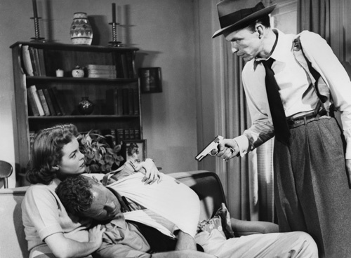 "Nancy Gates, Sterling Hayden and Frank Sinatra in ""Suddenly""1954 United Artists ** I.V."