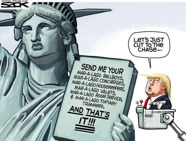 Cartoons Donald Trump's Version Of Immigration