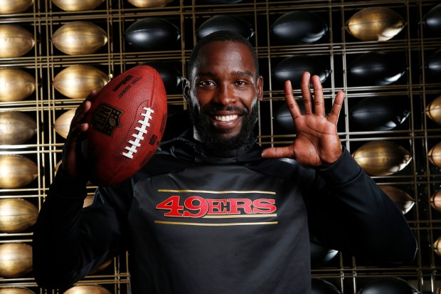 San Francisco 49ers wide receiver Pierre Garcon poses for a portrait at Levi's Stadium on Friday, Aug. 4, 2017, in Santa Clara, Calif. (Jim Gensheimer/Bay Area News Group)