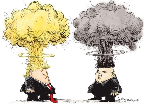 Cartoons Donald Trump Goes 'fire And Fury' On Kim Jong Un
